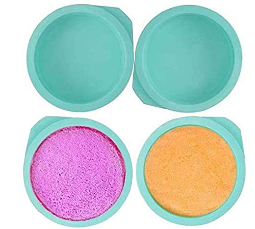 ZSWQ Molde Redondo de Silicona para Tartas, 15 cm, sin BPA, Antiadherente, 4 Unidades