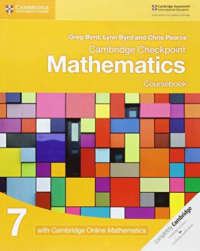 Cambridge Checkpoint Mathematics 7 Cb With Online Mathematics