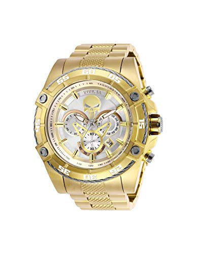 Invicta Marvel, orologio da uomo al quarzo in acciaio inox, colore: oro...