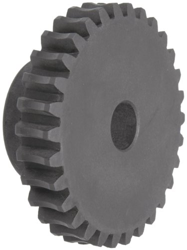 "Martin W636 Worm Gear, 14.5° Pressure Angle, Cast Iron, Inch, 1.000"" Face, 1"" Bore Diameter, 6"" Pitch Diameter, 6.373"" Outer Diameter, 36 Teeth"