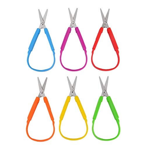 Best Price! Special Supplies Mini Loop Scissors for Children and Teens and 5.5 Inches (6-Pack) Colo...