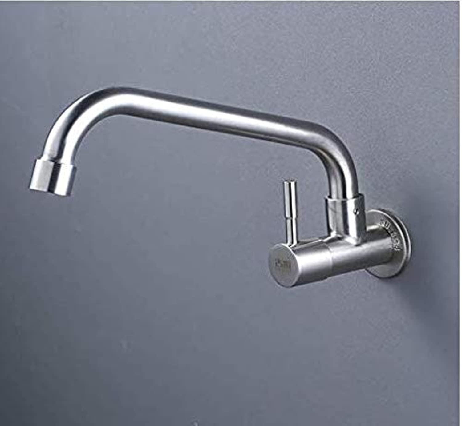 Kitchen Fauct Bathroom Faucet Kitchen Faucet in-Wall Sink Faucet Single Cold redating Basin Sink Faucet Copper Valve Core