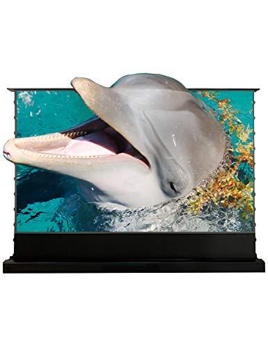 VIVIDSTORM-Laser projector 4k screen PRO 100 Inch Cinema Office/Home 8K/3D/UHD Motorized Floor Rising Screen Ambient Light rejecting screen pop-up screen Suitable for UST Laser projector, VMDSTUST100H