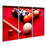 bilderfelix® Billards Pool Spiel. Cue Ball, Cue,