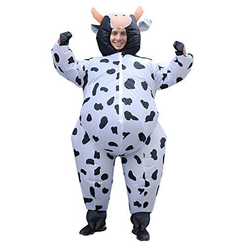ZHANGSDJ Weihnachtskostüme Aufblasbare Kuh Kostüm Frauen Erwachsene Unisex Anime Kostüm Luftgeblasen Milch Vieh Karneval Party Weihnachten Halloween