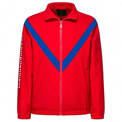 Preisvergleich Produktbild nobrand Men Color Block Zip Jacke mit Stehkragen Herren Sportjacke mit durchgehendem Reißverschluss mit schräger Tasche für Frühling Gr. Medium,  China Red