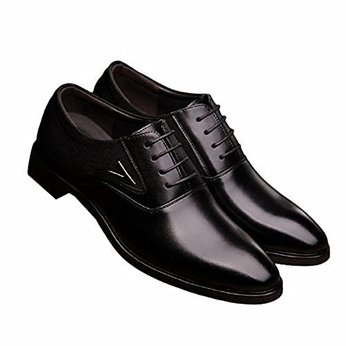 Zapatos de Negocios para Hombre Zapatos de Cuero con Punta Puntiaguda de Color sólido Transpirables Vintage Zapatos Oxford Formales de Trabajo de Oficina