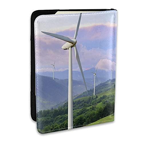 Funda para Soporte de Pasaporte Turbinas eólicas Eco Power Que generan Electricidad...