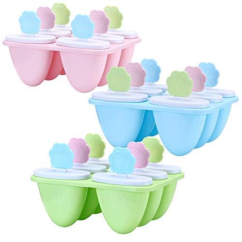 Popsicle Eis Lutscher Eisformen Popsicle Formen Einstellen für Kinder und Erwachsene 3 Stück
