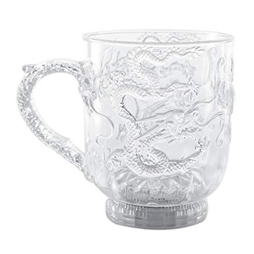 NaisiCore LED Leuchtglas Weinglas aus Kunststoff Multi-Color-Wasser-Schal Induction Luminous Cup kreativen Geschenk-Geschirr Zubehör für Partei