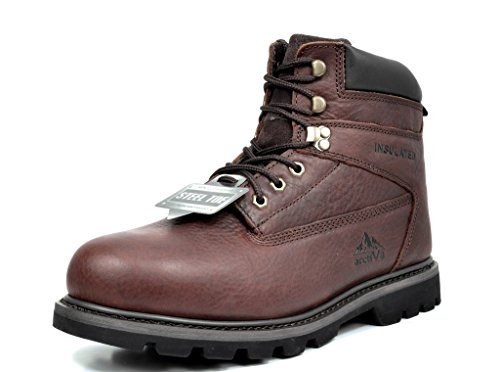 arctiv8 Men's Titan-S-02 Brown Full-Grain Leather Steel...