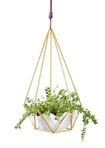 Mkono Hanging Planter Vase Succulent Pot Geometric Himmeli...