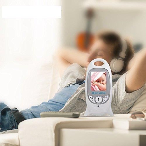 Wireless Video Baby Monitor con Fotocamera Digitale, Visione Notturna Monitoraggio della Temperatura e 2 vie Citofono Sistema VB601
