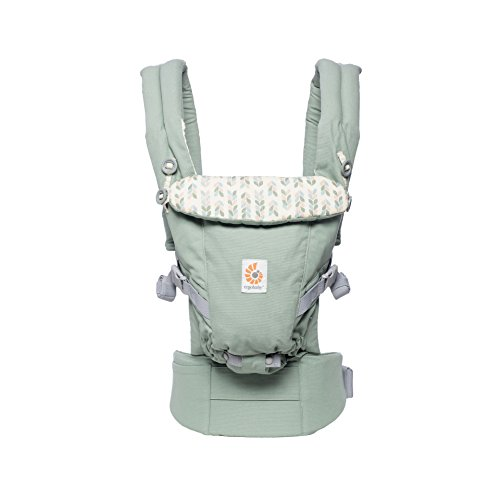 Ergobaby Babytrage für Neugeborene bis Kleinkind, Sage Adapt 3-Positionen Baby-Tragetasche Kindertrage Rückentrage