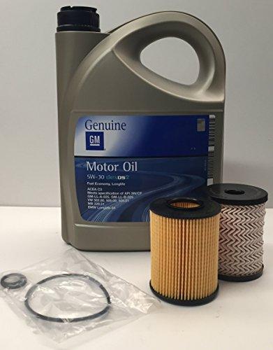 GM OPEL Pack Aceite Motor Original 5w30 5 litros + filtros Fram Combustible/Aceite Motores 1.7 CDTi / 2.0 DTi/ 2.0Di 16v