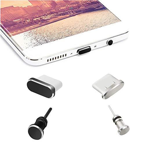 OOTSR Tappi Anti-Polvere Cappucci compatibili per Tipo C Porta Ricarica e Auricolari Jack, Antipolvere per Tipo C dispositivi Samsung Galaxy Note 8/9/S9/S9+/S10/S10+/HTC 10/U11/U11+/OnePlus 5/5T/6/6T