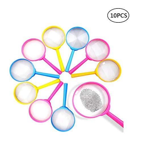 10 Stück Lupen, Lupen Kinder-Lupen, für Puzzle Lern, Forscher & Detektive Zum Erforschen von Insekten Pflanzen (Zufällige Farbe)