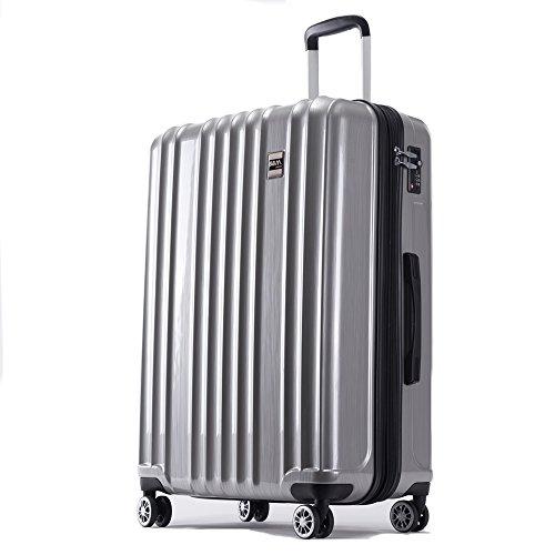 スーツケース 機内持ち込み SS 中型 M 大型 L サイズ 軽量 ファスナー TSAロック搭載 キャリーバッグ AKTIVA (小型、機内持込み、SS, シルバー)