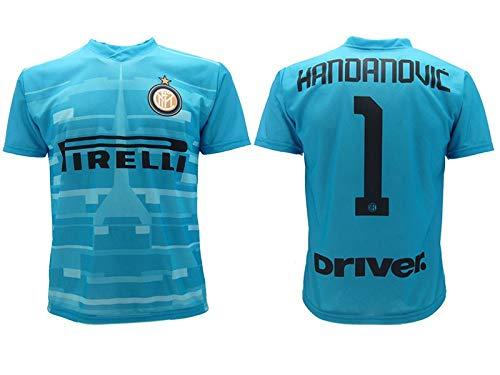 L.C. Sport srl Maglia Handanovic Inter 2020 Azzurra Ufficiale Stagione 2019 2020 Replica Autorizzata Portiere Home Samir 1 (8 Anni)