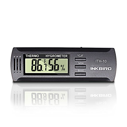 Inkbird ITH-10 Digital Thermometer and Hygrometer Temperature Humidity...
