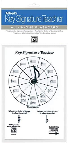Alfred's Key Signature Ranking TOP14 Teacher: White Under blast sales Flashcard All-In-One
