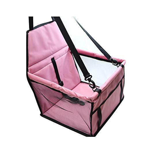 yingkoushixishiquziyuebaihuodian Hundebox, Transportbox für Auto Hundetransportbox Faltbare Katzenbox Auto Reisebox Pink