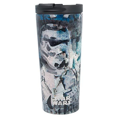 Star Wars   Termo Café para Llevar - Taza Termica de Viaje Acero Inoxidable 425 ml   Vaso Hermetico para Te o Café sin BPA con Tapa Antigoteo