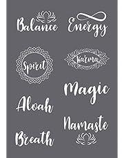 Rayher 45137000 Spirit - Plantilla de serigrafía (A5), transparente