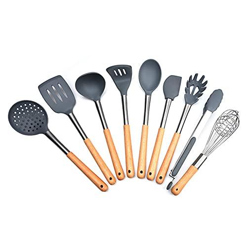Utensilios De Cocina De Silicona De 9 Piezas, Utensilios De Cocina, Espátula Antiadherente, Utensilios De Cocina, Accesorios De Cocina, Utensilios