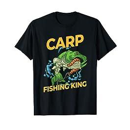 Homme Roi Pêche à la Carpe – Pêcheur à la Carpe T-Shirt