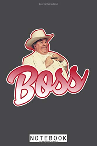 Boss Hogg Notebook: Lined College Ruled Paper, 6x9 120 Pages, Matte Finish Cover, Planner, Journal, Diary