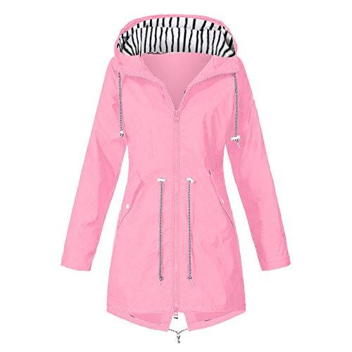 URIBAKY Damen Hoodie Jacke,Winter Sweatshirtjacke mit Kaputzen,Übergangsjacke-Freizeitjacken Thermo Reißverschluss Kapuze Warmer Mantel
