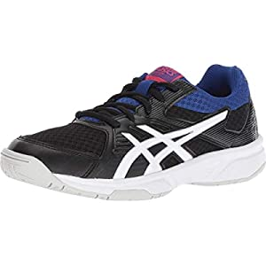 ASICS Women's Upcourt 3 Volleyball Shoes, 7, Black/White