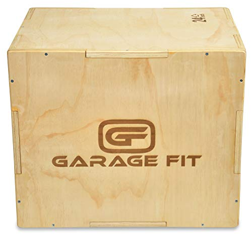 Garage Fit Wood Plyo Box - 12/14/16 inch 3 in 1 Plyo Box Plyometric Box, Plyometric Jump Box, Plyometric Jump Boxes, Box Jump Boxes, Jump Box (12/14/16)