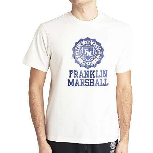 Franklin and Marshall Bianca da Uomo JM3014.001 - blanco - Large