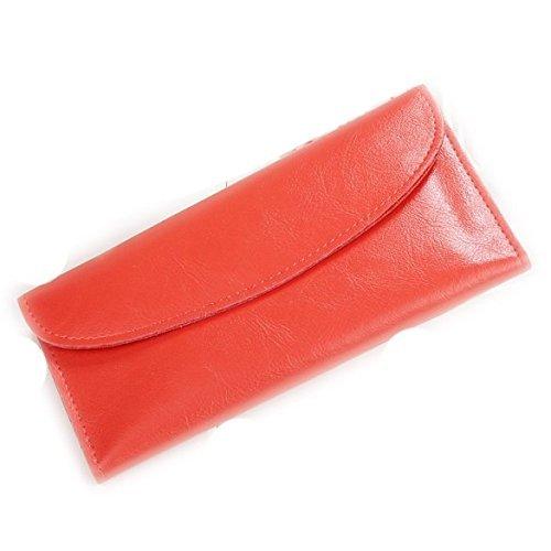Frauen Farbe Candy Synthetik Umschlag Leder lange Geldbörse