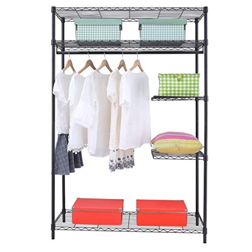 Home Furnishing Plaza Heavy-Duty Wire Shelving Garment Rack Utility Storage Organizer Shelf Rack for Kitchen Living Room Bathroom