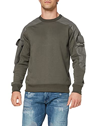 G-STAR RAW Mens Container Relaxed Sweatshirt, gs Grey A613-1260, M