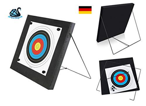 Eva Shop® Premium Zielscheibe Foam mit Ständer für Bogen und Armbrust Pfeile bis 30 lbs
