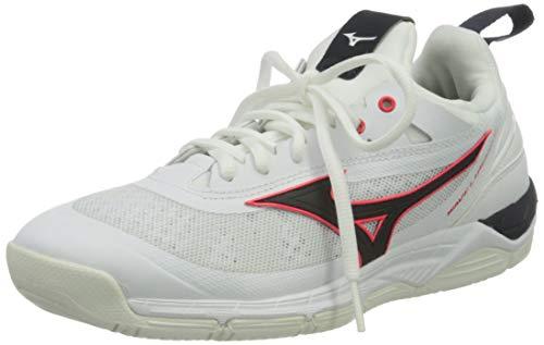 Mizuno Herren Wave Luminous Volleyball-Schuh, Weiß Salute Ignitionred, 44.5 EU