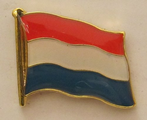 Buddel-Bini Versand Pin Anstecker Flagge Fahne Niederlande Holland Nationalflagge Flaggenpin Badge Button Flaggen Clip Anstecknadel