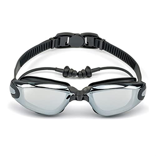 Tubería de agua Gafas de natación profesional Hombres y mujeres Ear Placa Impermeable Anti Niebla Adulto Piscina Piscina Gafas Natacion Nadar Eyewear Impermeable y antivaho, muy adecuado para nadar.