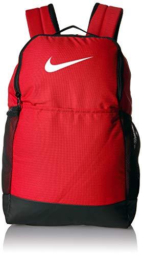 Nike Brasilia Medium Training Backpack, Nike Backpack for Women and Men with Secure Storage & Water Resistant Coating, University Red/Black/White