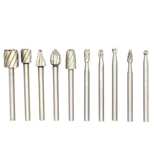 Fashion SHOP Brocas 10PC Drill Power Tools Drill bit Fresa eléctrica Grinder Cabeza de Grabado Cortador Cuchillo de Talla Herramientas Broca Taladradora