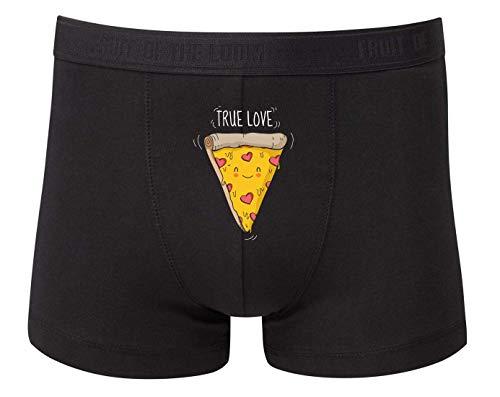 Druckerlebnis24 Boxershort - TRU Love Pizza Herz - Unterhose für Herren und Männer
