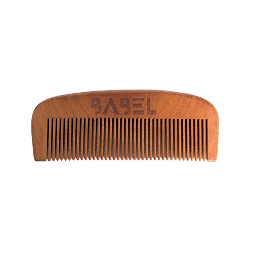 Babel Alchemy Handcrafted Pear Wood Beard Comb, Retail Packaging