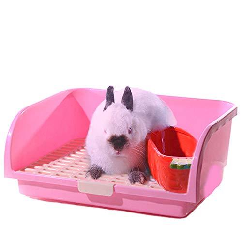 Oncpcare super grande Pet Litter box piccoli animali Restroom semplice quadrato coniglio lettiera Bedding Chinchilla potty Trainer Guinea Pig lettiera per piccoli animali riccio visone scoiattolo
