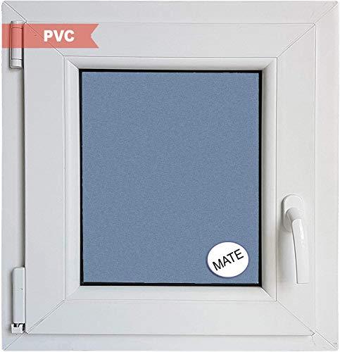 Ventanastock Ventana PVC Practicable Oscilobatiente Izquierda 1 hoja con vidrio Carglass (Climalit Mate) blanco, 60cm x 50cm
