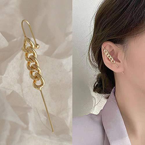N-B 925 Silver Needle Ear Bone Clip Earrings One-Piece Super Fairy Ear Clip Earrings Long Earrings Female