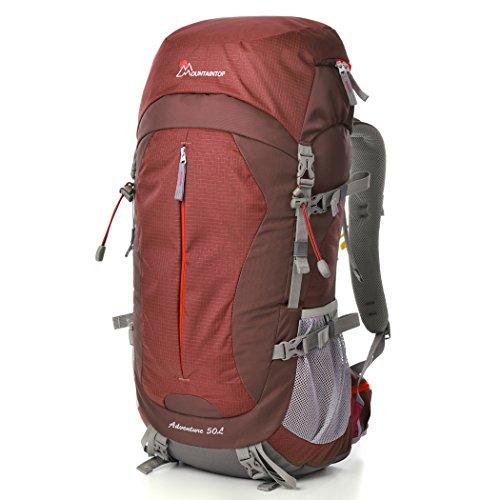 Mountaintop 50L Hiking Backpack Backpacking Trekking Bag with Rain Cover YKK buckle-5818III